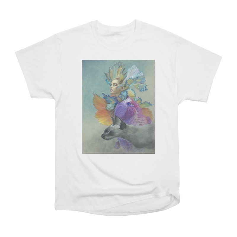 Girl Kat Fish Women's T-Shirt by Draw Juice Custom Art Prints