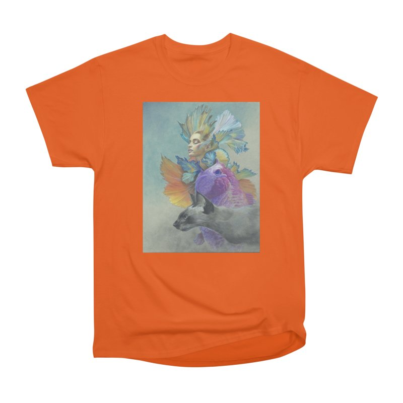 Girl Kat Fish Men's T-Shirt by Draw Juice Custom Art Prints