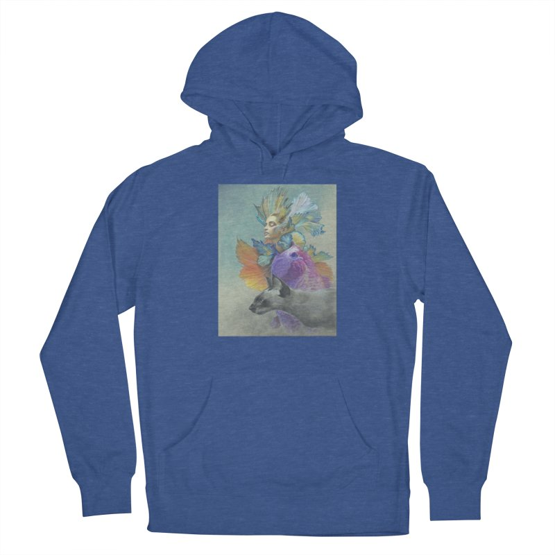Girl Kat Fish Men's French Terry Pullover Hoody by Draw Juice Custom Art Prints