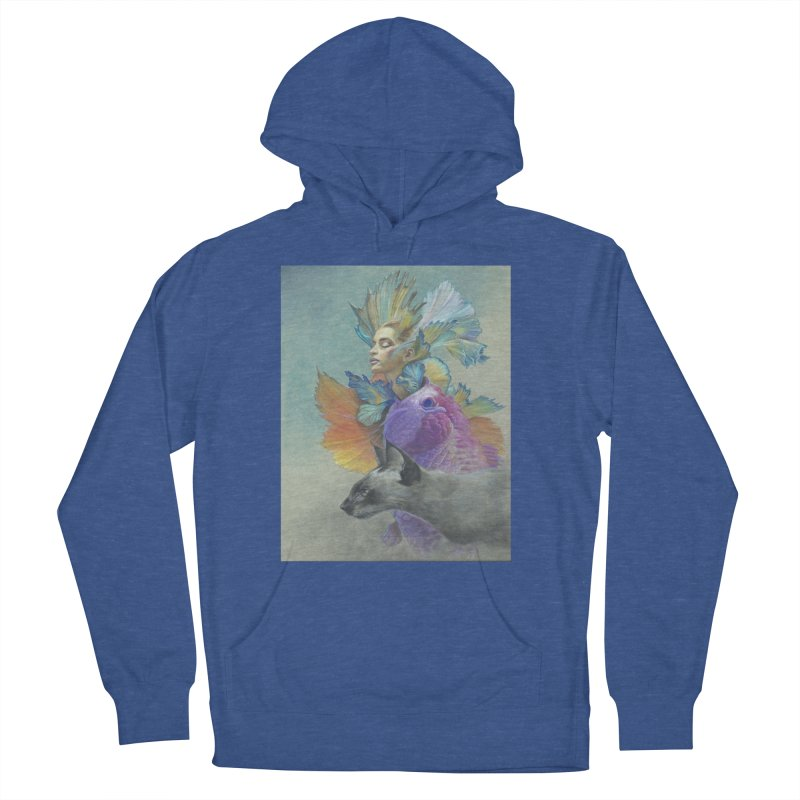 Girl Kat Fish Women's French Terry Pullover Hoody by Draw Juice Custom Art Prints