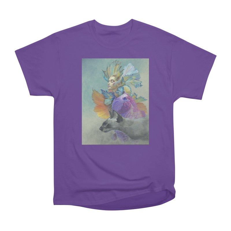Girl Kat Fish Women's Heavyweight Unisex T-Shirt by Draw Juice Custom Art Prints