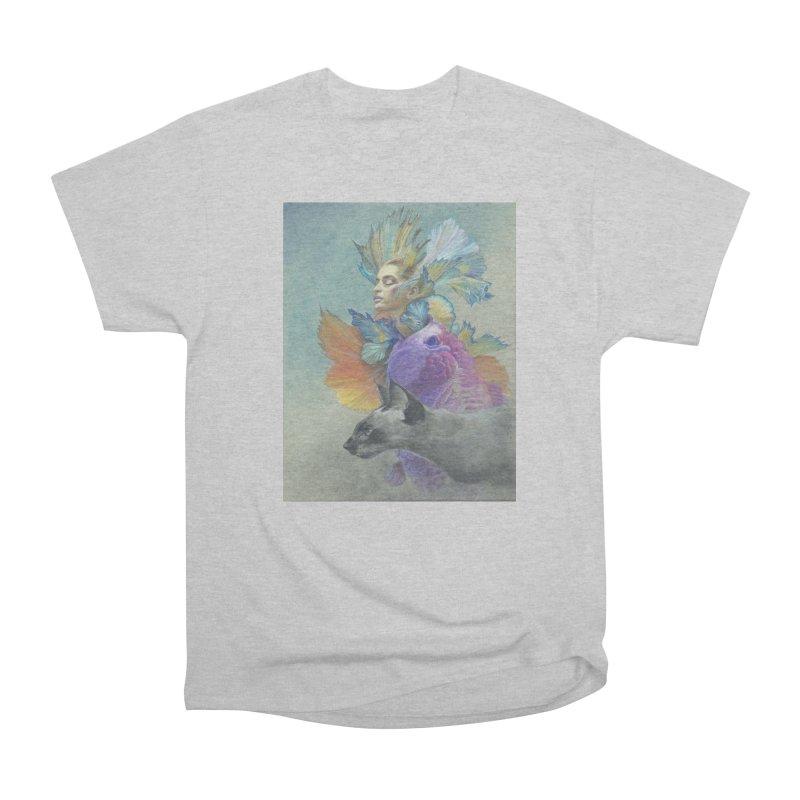 Girl Kat Fish Men's Heavyweight T-Shirt by Draw Juice Custom Art Prints