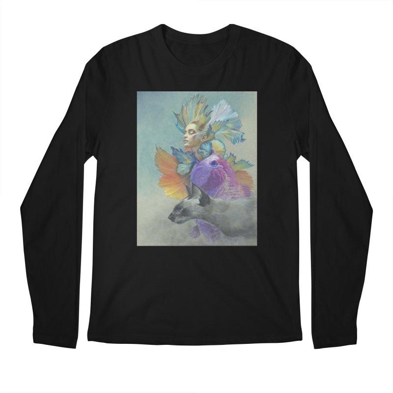Girl Kat Fish Men's Regular Longsleeve T-Shirt by Draw Juice Custom Art Prints