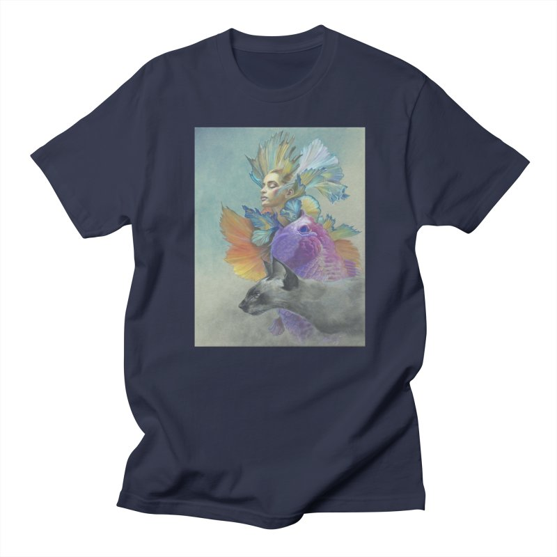Girl Kat Fish Men's Regular T-Shirt by Draw Juice Custom Art Prints