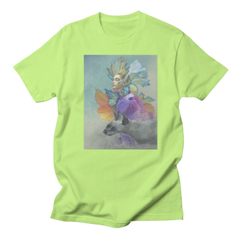 Girl Kat Fish Women's Regular Unisex T-Shirt by Draw Juice Custom Art Prints