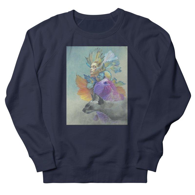 Girl Kat Fish Women's French Terry Sweatshirt by Draw Juice Custom Art Prints