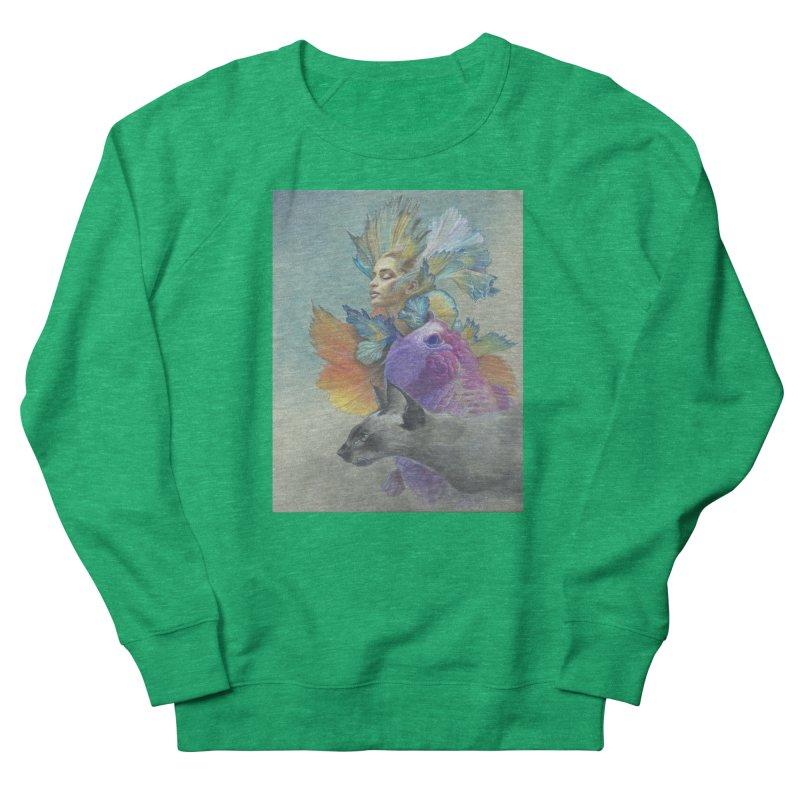 Girl Kat Fish Men's French Terry Sweatshirt by Draw Juice Custom Art Prints