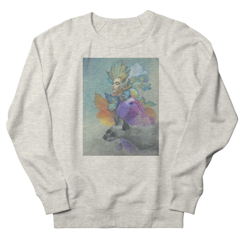 Girl Kat Fish Men's French Terry Sweatshirt by Draw Juice Custom Art Prints