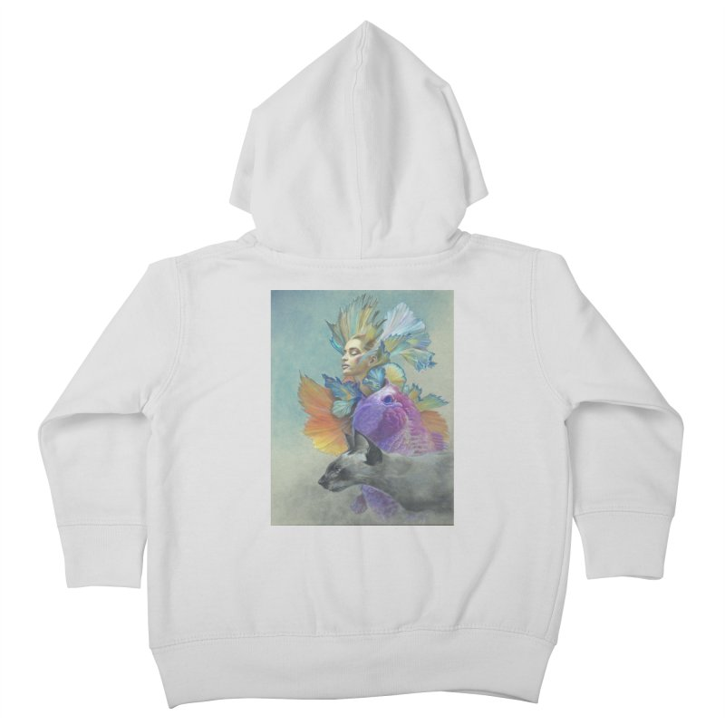 Girl Kat Fish Kids Toddler Zip-Up Hoody by Draw Juice Custom Art Prints