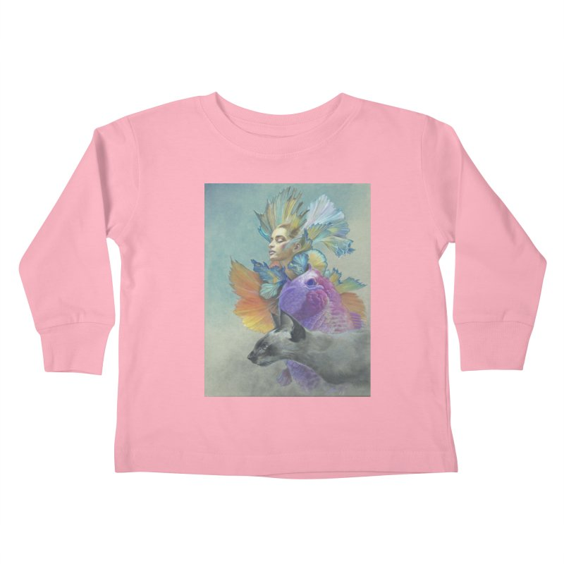 Girl Kat Fish Kids Toddler Longsleeve T-Shirt by Draw Juice Custom Art Prints