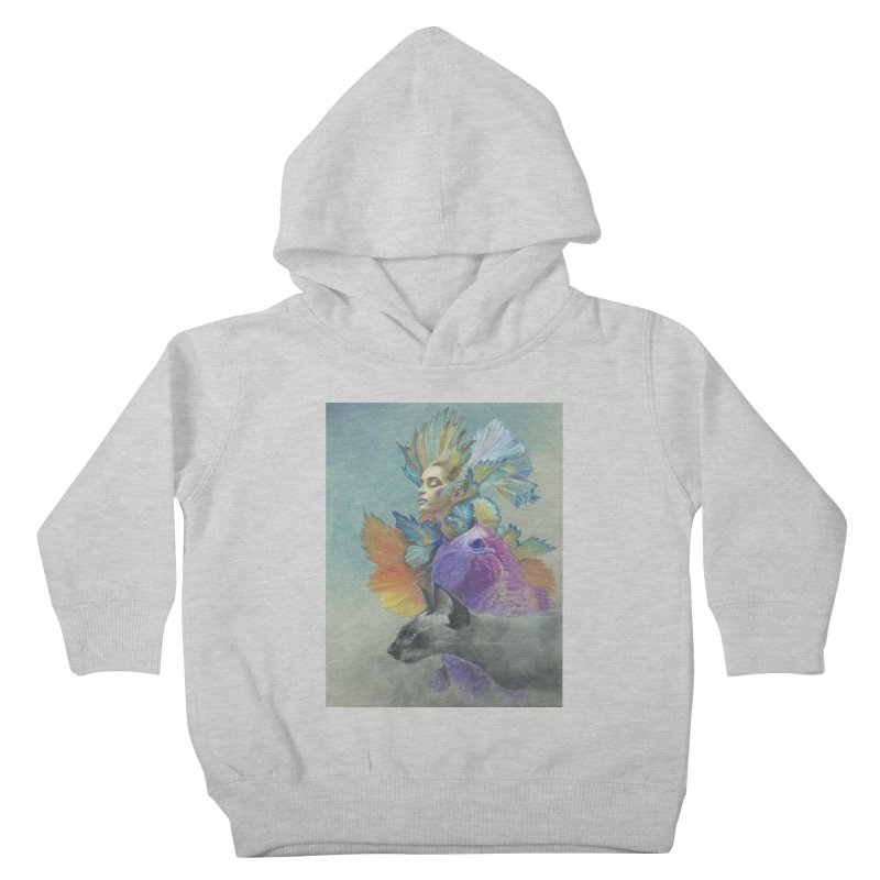 Girl Kat Fish Kids Toddler Pullover Hoody by Draw Juice Custom Art Prints