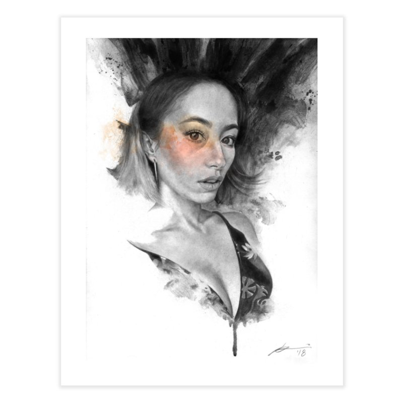 Ann Home Fine Art Print by Draw Juice Custom Art Prints