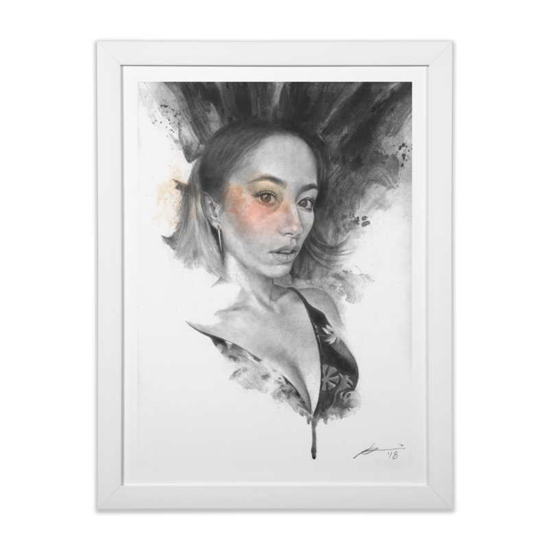 Ann Home Framed Fine Art Print by Draw Juice Custom Art Prints