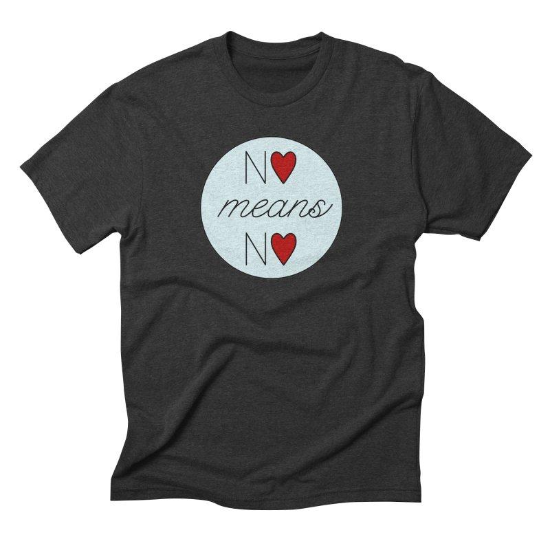 No means No logo Men's Triblend T-Shirt by Ohashleylove's Shop