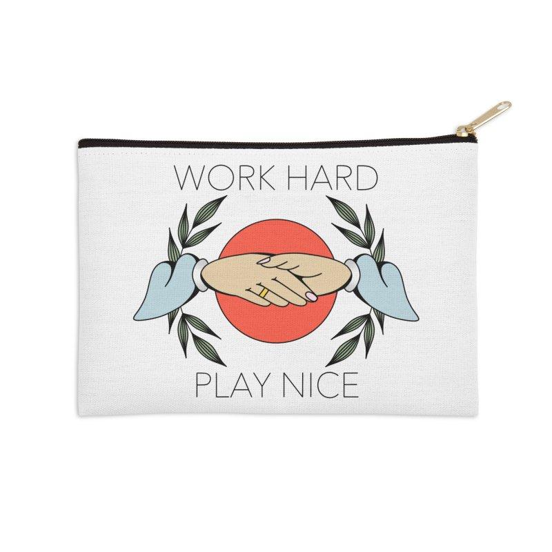 Work Hard Accessories Zip Pouch by Ohashleylove's Shop