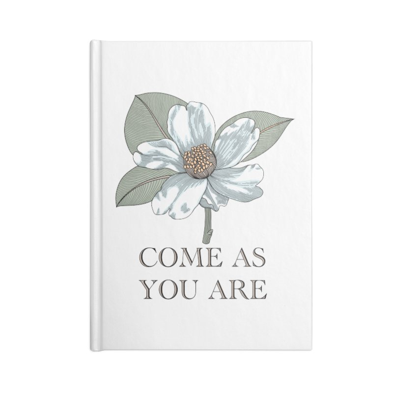 Come As You Are Accessories Lined Journal Notebook by Ohashleylove's Shop