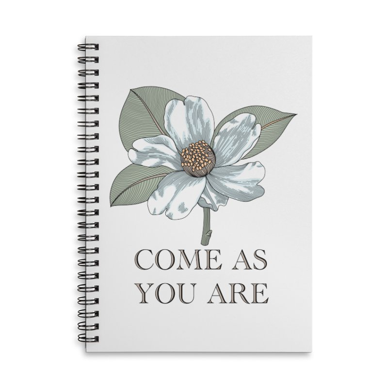 Come As You Are Accessories Lined Spiral Notebook by Ohashleylove's Shop