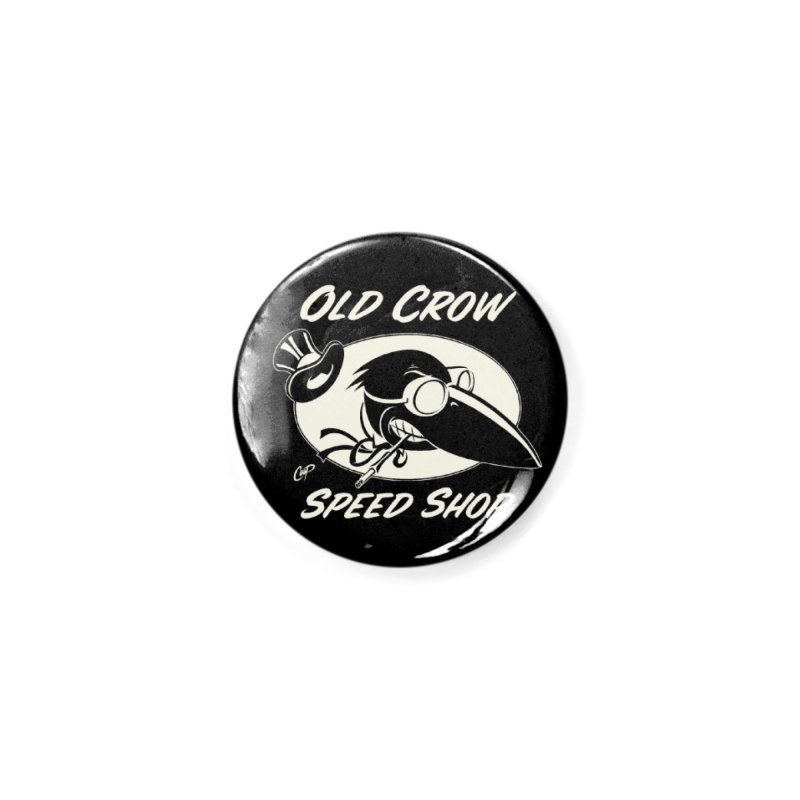 OLD CROW SPEED SHOP Accessories Button by Old Crow Speed Shop