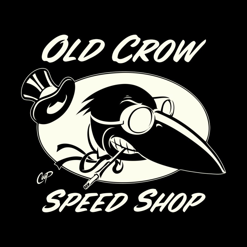 OLD CROW SPEED SHOP Kids Baby Zip-Up Hoody by Old Crow Speed Shop