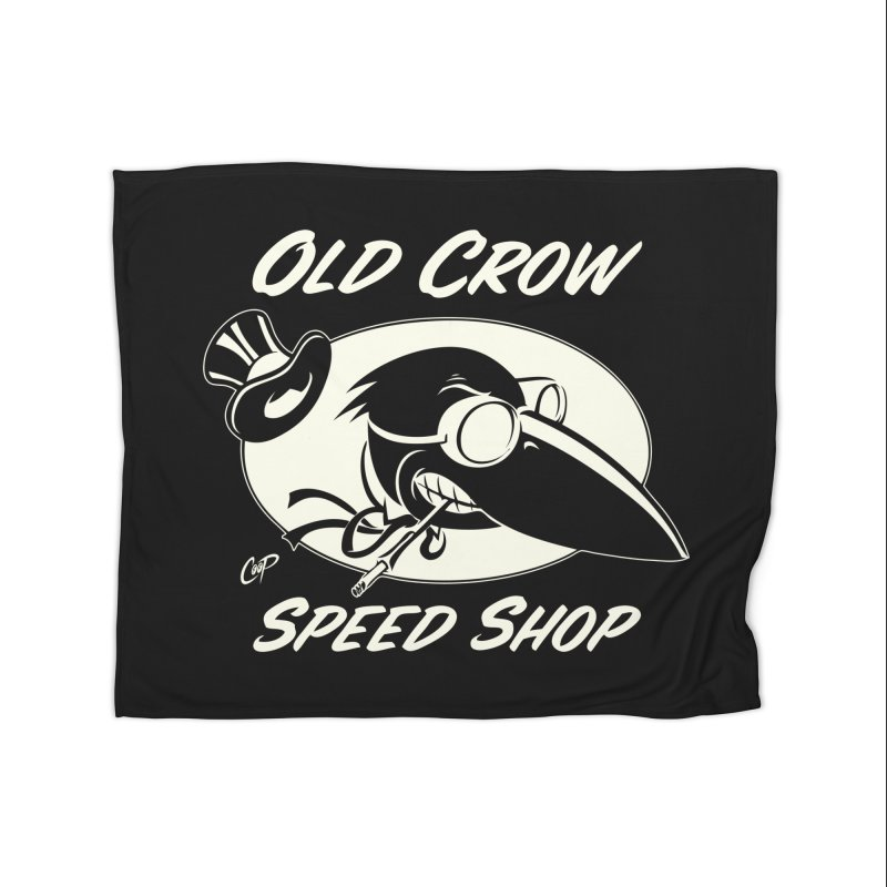 OLD CROW SPEED SHOP Home Blanket by Old Crow Speed Shop