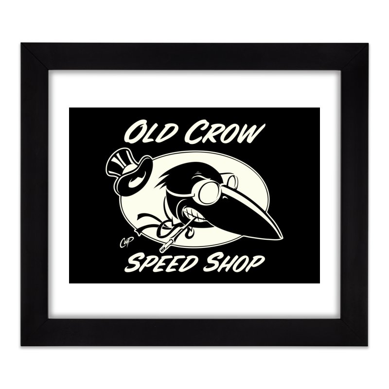 OLD CROW SPEED SHOP Home Framed Fine Art Print by Old Crow Speed Shop