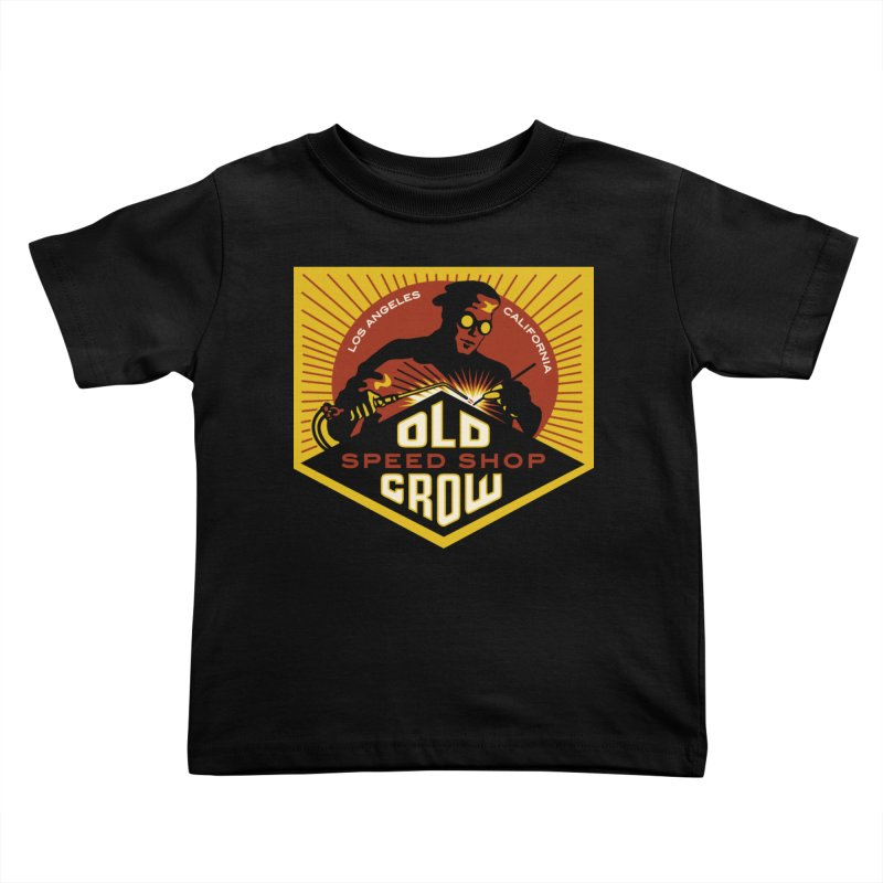 OLD CROW FABRICATION Kids Toddler T-Shirt by Old Crow Speed Shop