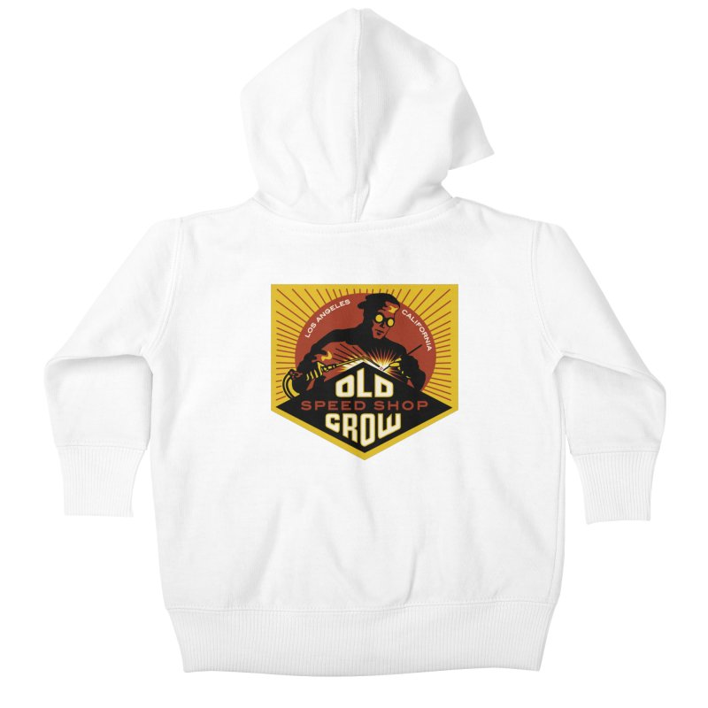 OLD CROW FABRICATION Kids Baby Zip-Up Hoody by Old Crow Speed Shop