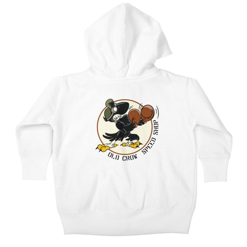 OLD CROW FIGHTING 33rd Kids Baby Zip-Up Hoody by Old Crow Speed Shop