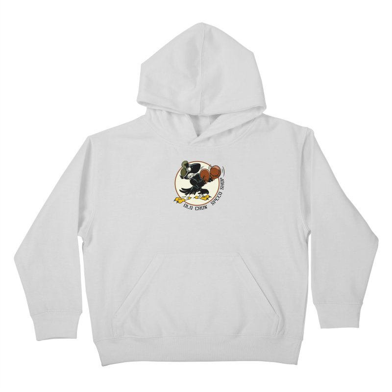 OLD CROW FIGHTING 33rd Kids Pullover Hoody by Old Crow Speed Shop