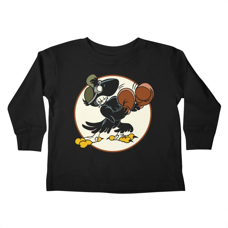 OLD CROW FIGHTING 33rd Kids Toddler Longsleeve T-Shirt by Old Crow Speed Shop