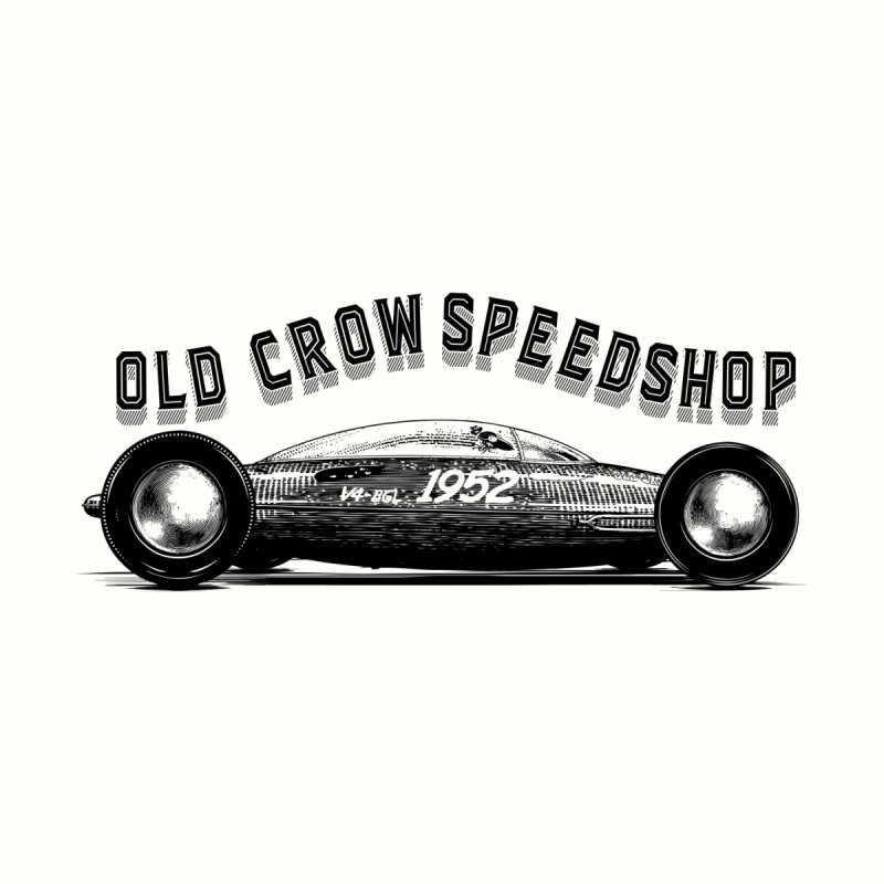 OLD CROW BELLY TANKER ETCHED Women's T-Shirt by Old Crow Speed Shop