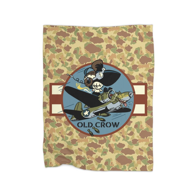 OLD CROW BOMB SQUADRON Home Blanket by Old Crow Speed Shop