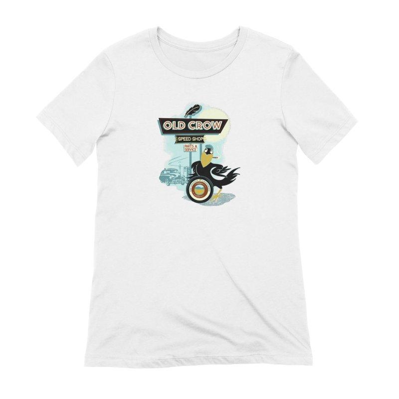 ATOMIC GARAGE Women's T-Shirt by Old Crow Speed Shop