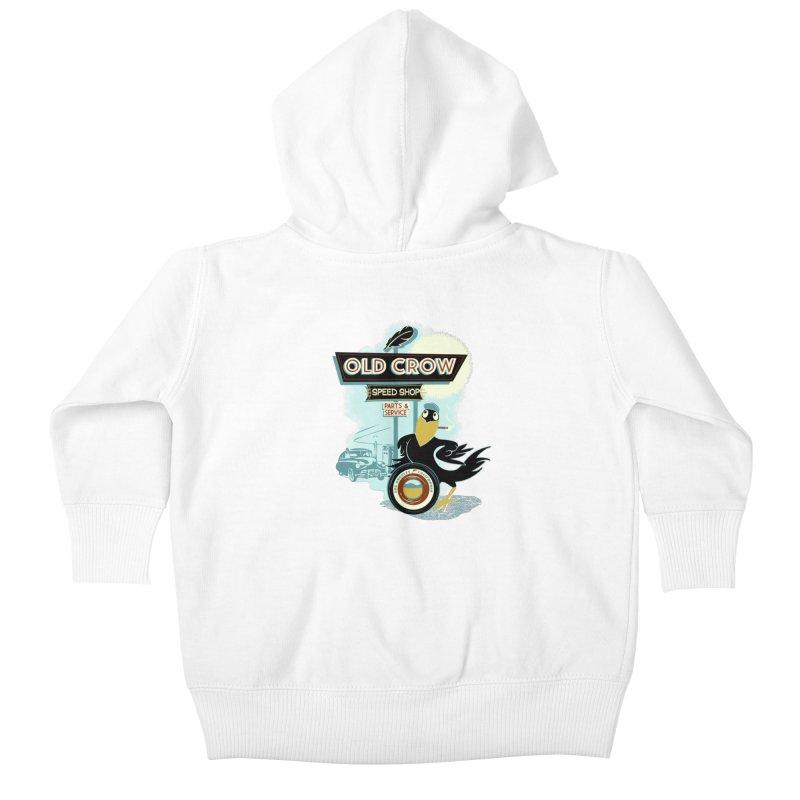 ATOMIC GARAGE Kids Baby Zip-Up Hoody by Old Crow Speed Shop