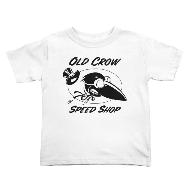 OLD CROW SHOP LOGO - Kids Toddler T-Shirt by Old Crow Speed Shop