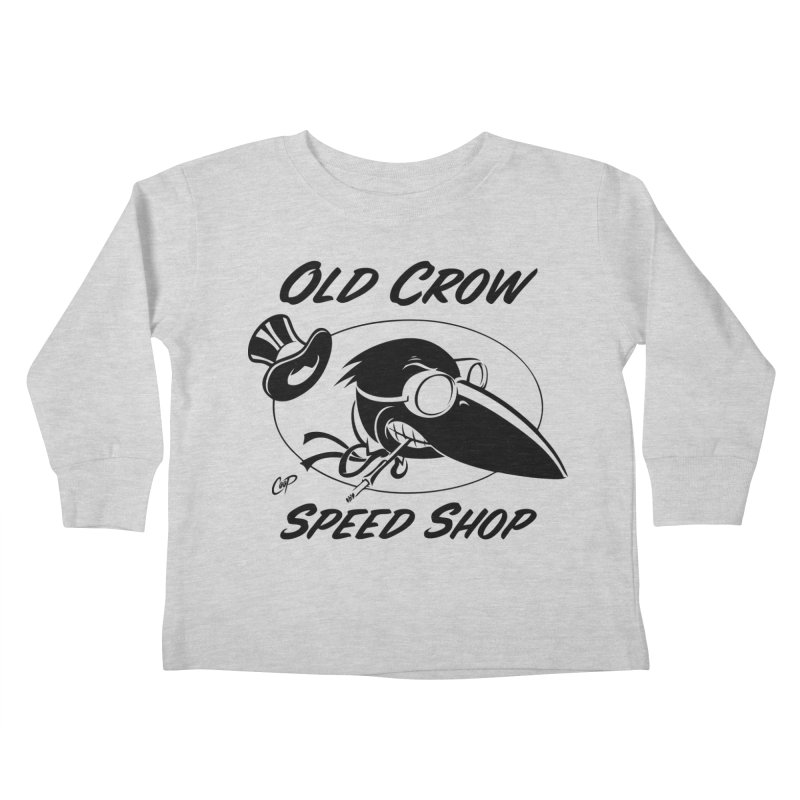 OLD CROW SHOP LOGO - Kids Toddler Longsleeve T-Shirt by Old Crow Speed Shop