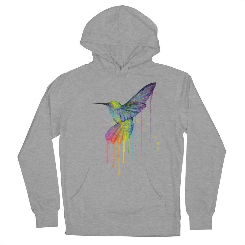 Rainbow Hummingbird Women's Pullover Hoody by Art by Olga Shvartsur