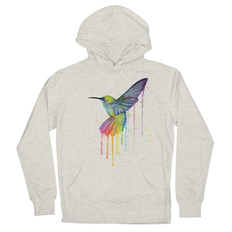 Rainbow Hummingbird Men's Pullover Hoody by Art by Olga Shvartsur