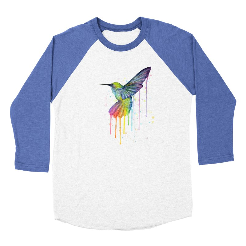 Rainbow Hummingbird Men's Longsleeve T-Shirt by Art by Olga Shvartsur