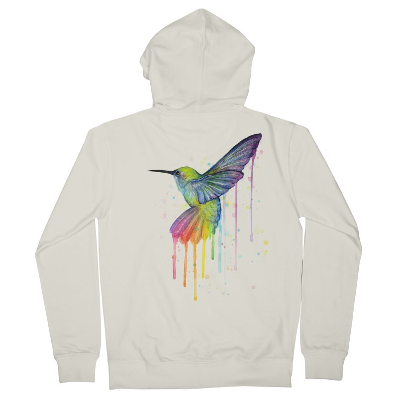 Rainbow Hummingbird Women's Zip-Up Hoody by Art by Olga Shvartsur