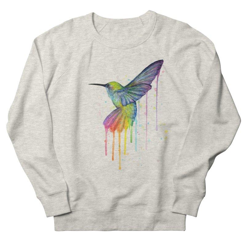 Rainbow Hummingbird Women's Sweatshirt by Art by Olga Shvartsur