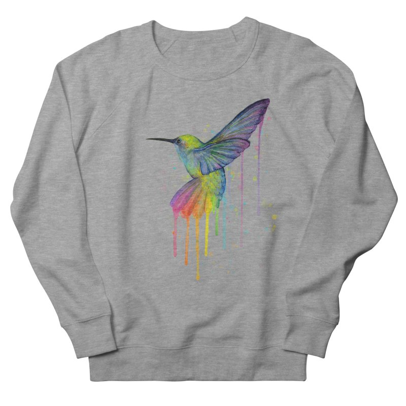 Rainbow Hummingbird Men's French Terry Sweatshirt by Art by Olga Shvartsur