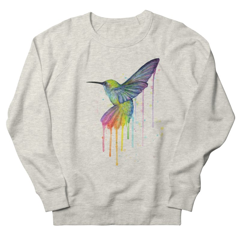 Rainbow Hummingbird Men's Sweatshirt by Art by Olga Shvartsur