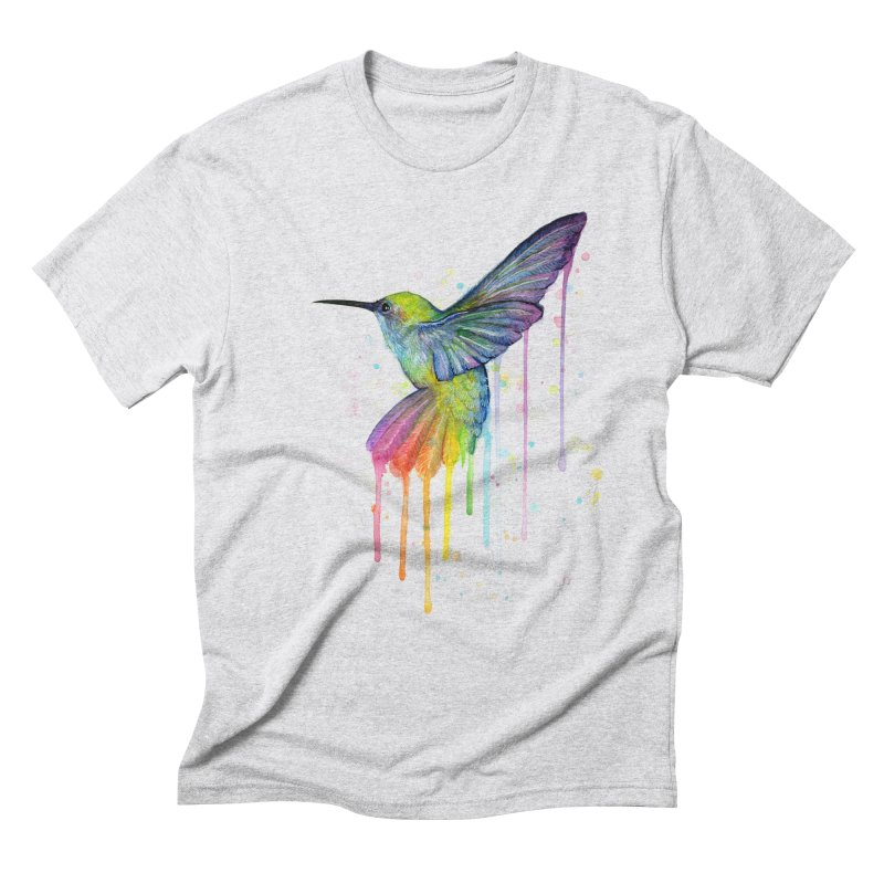 Rainbow Hummingbird Men's Triblend T-Shirt by Art by Olga Shvartsur