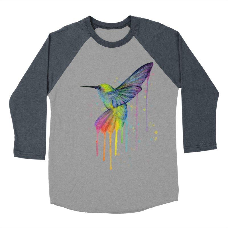 Rainbow Hummingbird Women's Baseball Triblend T-Shirt by Art by Olga Shvartsur