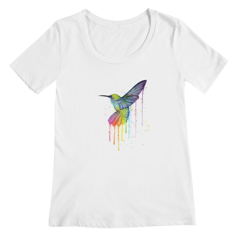 Rainbow Hummingbird   by Art by Olga Shvartsur