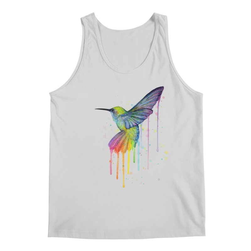 Rainbow Hummingbird Men's Regular Tank by Art by Olga Shvartsur
