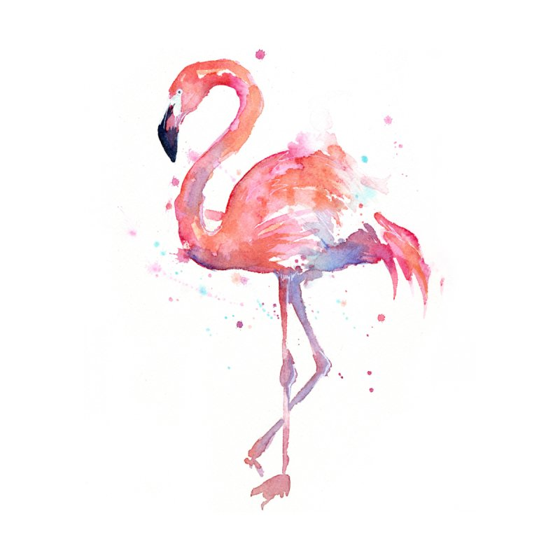 Flamingo by Art by Olga Shvartsur