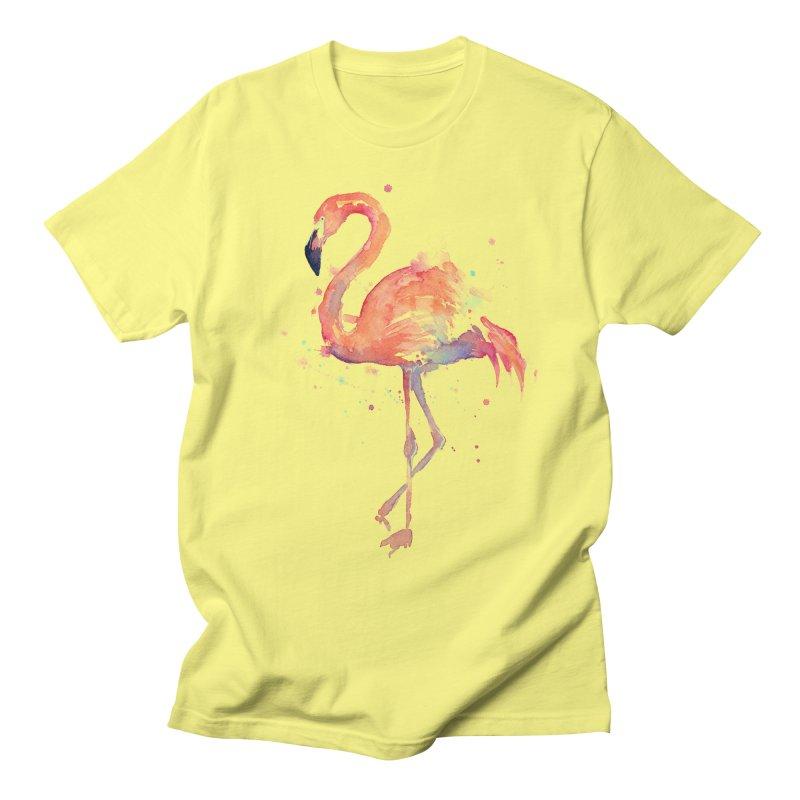 Flamingo Men's T-Shirt by Art by Olga Shvartsur