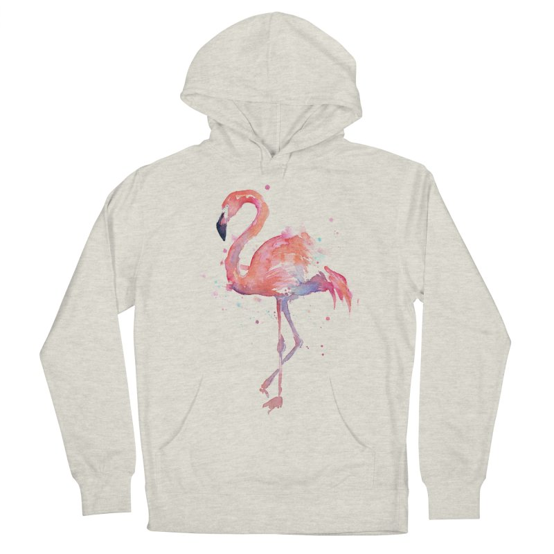 Flamingo Men's French Terry Pullover Hoody by Art by Olga Shvartsur